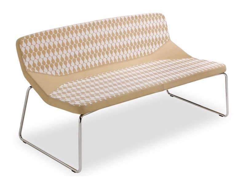 Formula120 sled, Stilvolles Sofa, Polsterung für maximalen Komfort, geeignet für Wartebereiche