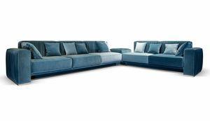 Herbin, Sofa mit plissiertem Stoff