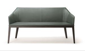 ROCK SOFA 020 D, Modernes Sofa mit Massivholzbeinen