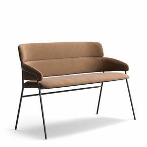 Strike SO, Feuerfestes gepolstertes Zweisitzer-Sofa