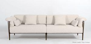 MARINA GF4029SO, Sofa mit geschmiedeter Eisenstruktur
