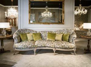 4960 Sofa, Sofa mit klassischem Stoff bezogen