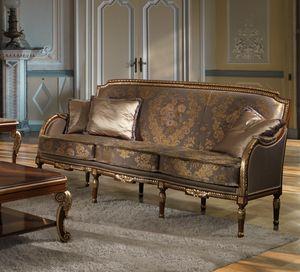 ART. 2867, Klassisches Sofa mit Golddetails