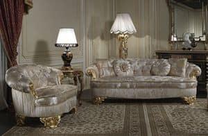 Art. PA/603 Sofa, Sofa klassische, Sitze mit breiten Tiefe