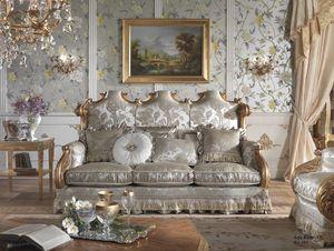 Barone Sofa, Klassisches Sofa, handgeschnitzt