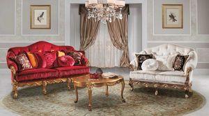 CASANOVA, Sehr elegantes klassisches Sofa aus Samt
