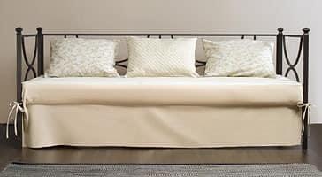 Duetto Sofa, Linear Metall Sofa, zurück mit gepolsterten Kissen