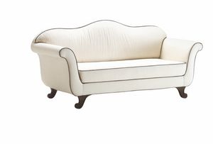 Enrica, Klassisches Sofa mit komplett abnehmbarer Polsterung