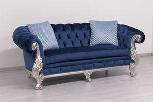 Manchester Leder 2-Sitzer, Sofa Luxus klassisch, mit gesteppter Polsterung