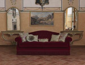 Monica Sofa, Sofa im klassischen Stil, mit anpassbaren Farben
