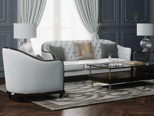 New York/CL Sofa, Sofa mit umlaufender abgerundeter Rückenlehne