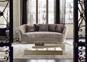Nora, Elegantes Sofa mit weichen Formen