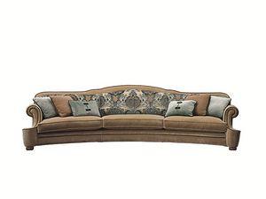 Palais Royal curved, Klassisches geschwungenes Sofa