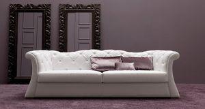 Pascal  Art. 686, Tufted Sofa, mit viel Komfort und Stärke
