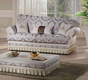 PRINCIPE, Sofa mit feinen Stoffen gepolstert
