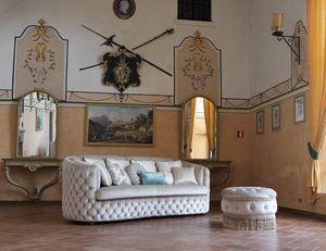 Rachele Sofa, Getuftetes Sofa mit harmonischen Linien