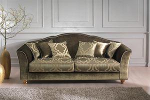 Raja, Klassisches Sofa mit modernen Stoffen