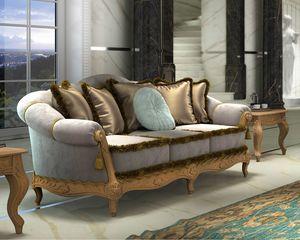 Zaffiro Art. 8211 - 8221, Sofa mit wertvollen Schnitzereien