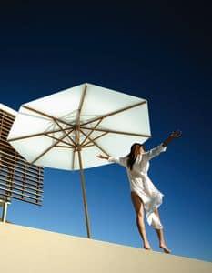 San Paolo, Sonnenschirm lackiert, mit austauschbaren Rippen