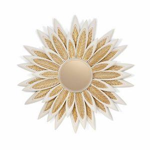 AGNES / Spiegel, Spiegel mit Rahmen mit Blütenblättern