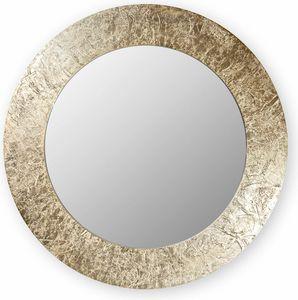 Asia round, Spiegel mit rundem Rahmen