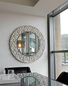 Cliff 329, Runder Spiegel mit Kristallrahmen