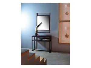 Dorian, Spiegel mit linearer Rahmen aus Massivholz