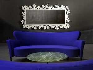 Flower Spiegel, Spiegel in Laser-Cut Metall, verschiedenen Ausführungen