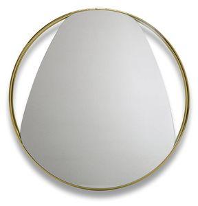 Frame G, Runder Spiegel mit Metallrahmen