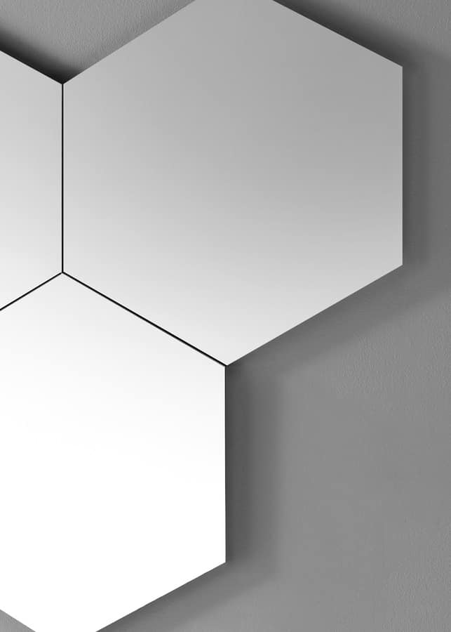 Geometrika hexagonal, Modulare sechseckigen Spiegel, ungerahmt