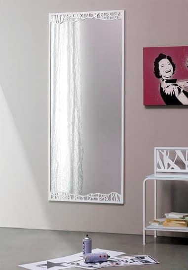 Green Spiegel, Dekorative Spiegel mit dünnen Metallrahmen