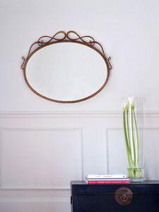 Griselda, Wandmontierter Spiegel aus Eisen