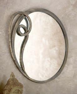 Azzurra spiegel, Runder Spiegel mit Metallrahmen