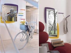 k198 visual, Spiegel mit Rückseite mit LED-Beleuchtung