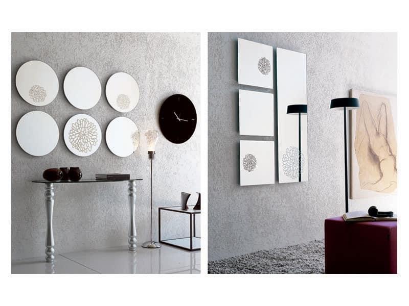 k201 frill, Rahmenlos Spiegel, Wandmontage