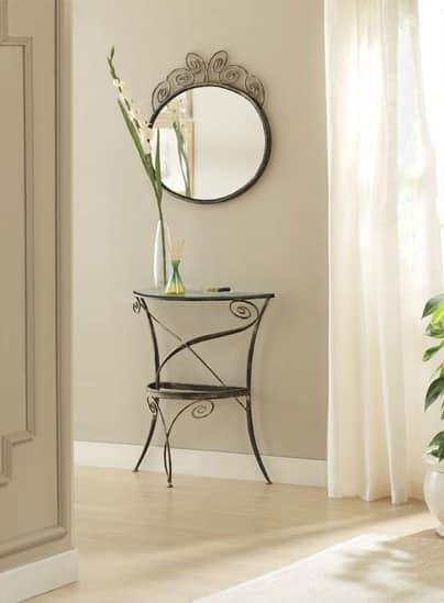 Klimt mirror, Spiegel mit elaborierten Eisenrahmen