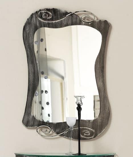 Mirò mirror, Spiegel mit gekrümmten Eisenrahmen