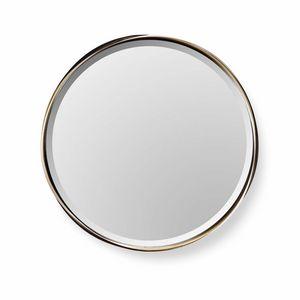 Rodin Spiegel, Runder Spiegel mit Stahlrahmen