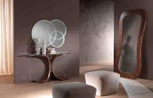 SP24 Morfeo Spiegel, Spiegel in Canaletto Nussbaum, zum Eingang Zimmer