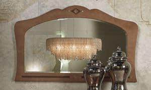 SP34 Charme Spiegel, Spiegel in eingelegtem Holz, für Hotels und Restaurants
