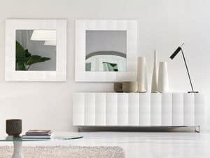 VENICE mirror, Quadratischer Spiegel mit mattem Rahmen