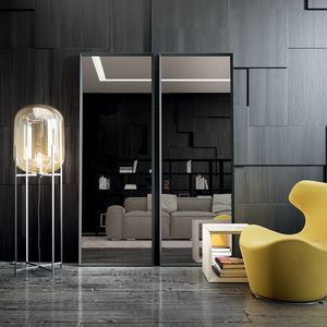 Vittorio 111, Spiegel mit Aluminiumprofil