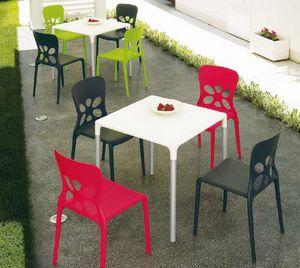 Stop, Outdoor-Tisch, stapelbar, aus Aluminium und Kunststoff