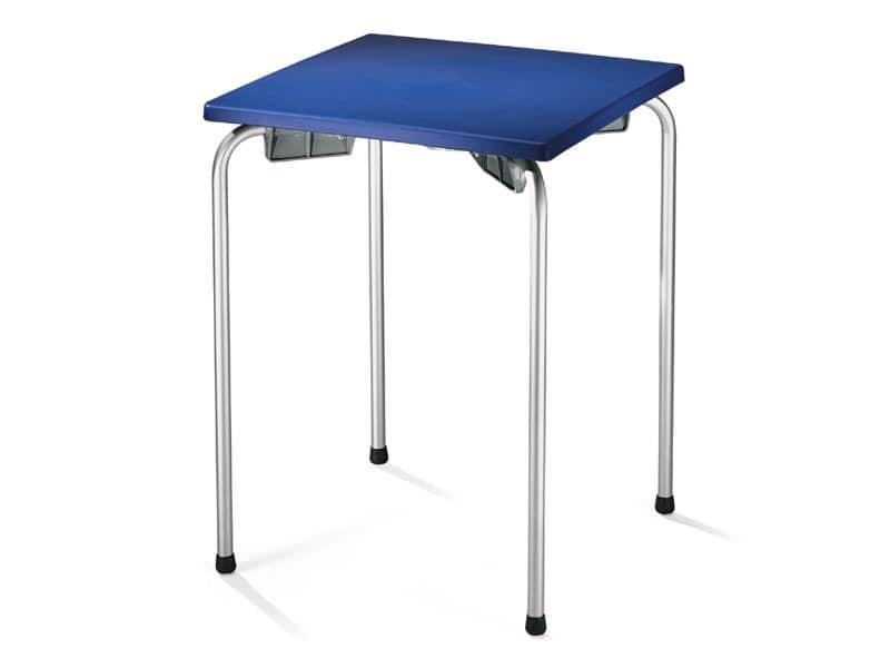 Table 60x60 cod. 20/I, Outdoor-Tisch für Bar, Restaurant, Eisdiele