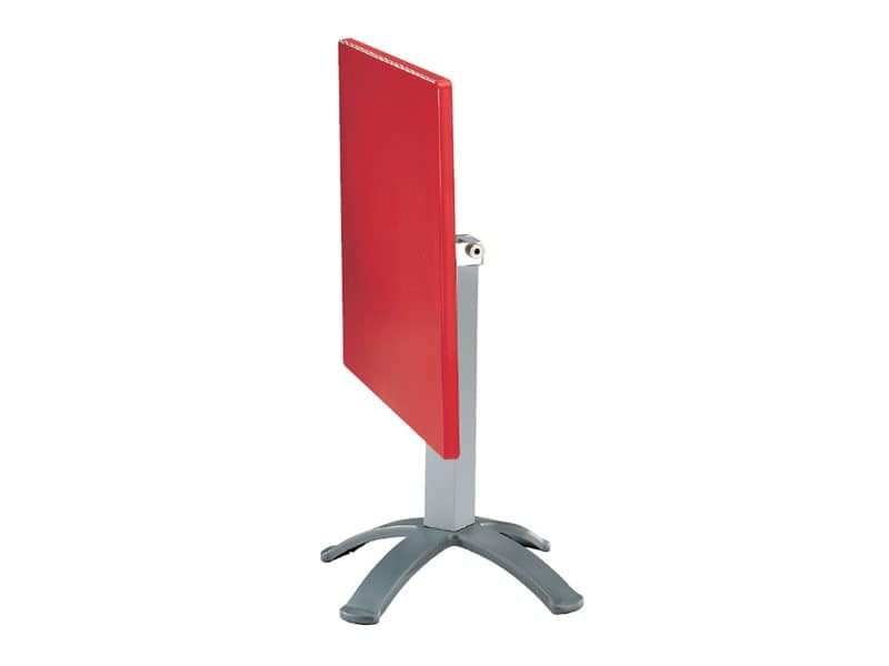 Table 80x80 cod. 23/BG4P, Klapptisch in Polymer und Aluminium, für externe