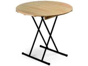 Table Eva, Klapptisch, wiwth runde Oberseite, f�r Bankett