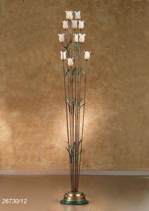 Art. 26730/12 Butterfly, Stehlampe aus Messing und Glas