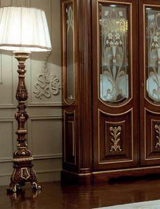 Luigi XVI Art. PIA01/L, Stehlampe aus geschnitztem Holz