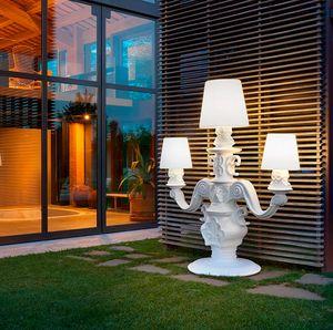 Stehlampe Modernes Design Leuchter Slide King of Love SD KIN230T, Stehlampe in Form eines Kerzenhalters