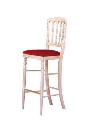 S10 SG, Beech Barhocker, gepolsterte Sitzfläche, für klassische Umgebungen